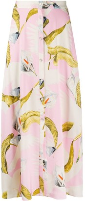 Temperley London Bird Print Skirt