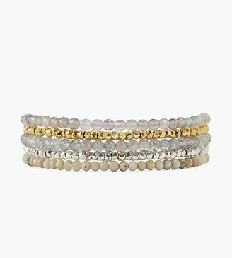 Chan Luu Labradorite Mix Naked Five Wrap Bracelet