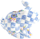 Mackenzie Childs MacKenzie-Childs - Quilted Bunny Money Box - Blue