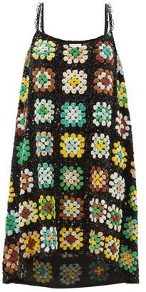 Ashish Relaxed Sequinned Slip Dress - Womens - Green Multi