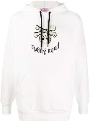 Palm Angels skull motif hoodie