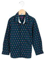 Paul Smith Boys' Rabbit Print Button-Up Shirt