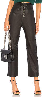 L'Academie The Kane Leather Pant