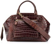 Max Mara crocodile-effect tote