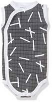 Lodger Scandinavian Baby Romper Suit, Black, Size 62