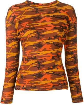 Jean Paul Gaultier Pre-Owned 1989 camouflage printed top