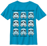 Fifth Sun The Last Jedi Turquoise Trooper Expressions Tee - Boys