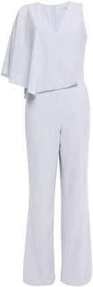 Halston Cape-effect Satin-crepe Jumpsuit