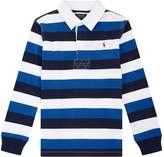 Polo Ralph Lauren Stripe Printed Rugby Polo Top