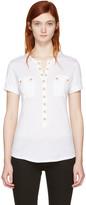 Balmain White Pockets T-Shirt