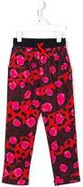 Kenzo printed trousers - kids - Cotton/Spandex/Elastane - 12 yrs