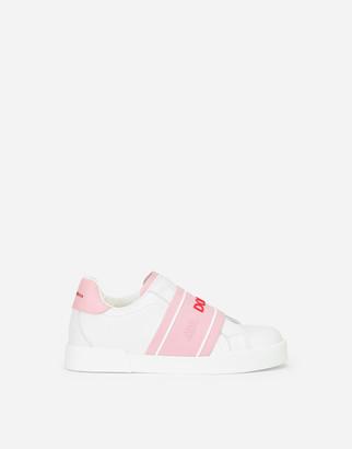 Dolce & Gabbana Calfskin Slip-On Portofino Light Sneakers