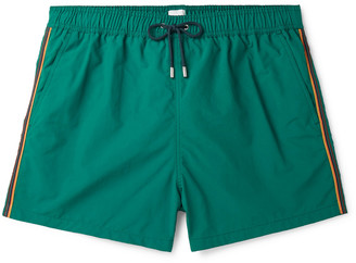 Paul Smith Striped Wide-Leg Mid-Length Swim Shorts