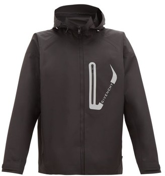 Givenchy Reflective Logo Windbreaker Jacket - Black
