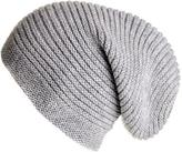 Black Light Grey Cashmere Slouch Beanie Hat