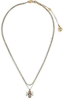 Alexander McQueen Spider Pendant Necklace