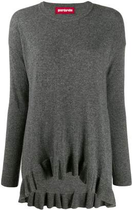 Guardaroba asymmetric hem fine knit sweater