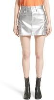 Junya Watanabe Women's Metallic Faux Leather Miniskirt