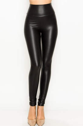 Olivaceous Faux Leather Leggings