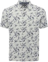 M&Co Floral print short sleeve polo shirt