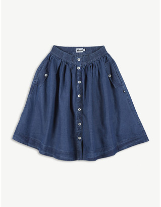 Molo Bolette A-line cotton denim midi skirt 3-14 years
