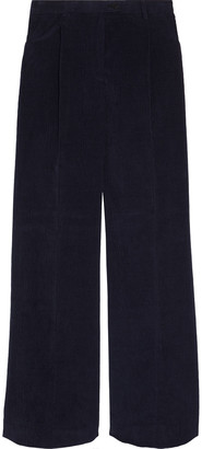 Acne Studios Pleated Cotton-blend Corduroy Wide-leg Pants