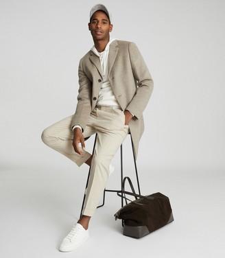 Reiss Gable - Wool-blend Epsom Overcoat in Oatmeal