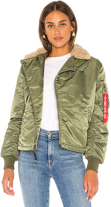 Alpha Industries B-15 Straight Hem Mod Jacket With Faux Fur