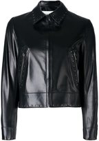 Valentino studded jacket - women - Silk/Lamb Skin - 40