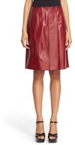 Marc Jacobs Seamed Leather A Line Skirt