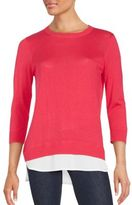 Calvin Klein Collection Double-Layered Woven Sweater