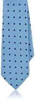 Barneys New York Men's Basket-Weave Silk Necktie-LIGHT BLUE