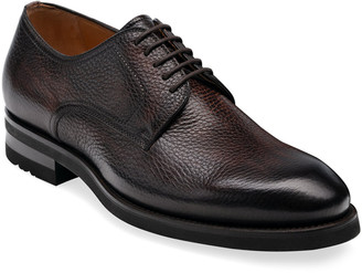Magnanni Men's Melich II Pebbled Leather Derby Shoes
