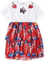 Leitmotiv Printed Cotton Jersey & Satin Dress