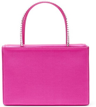 Amina Muaddi Amini Gilda Crystal Satin Box Bag - Pink