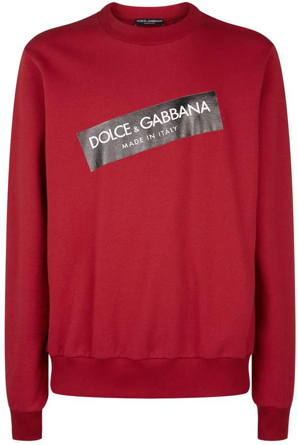 Dolce & Gabbana Logo Sticker Sweatshirt