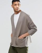Asos Jersey Kimono Cardigan With Zip
