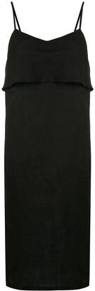 Venroy Draped Linen Midi Dress