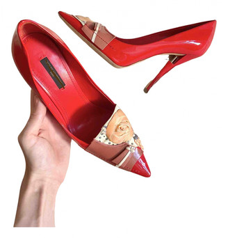 Louis Vuitton Red Patent leather Heels
