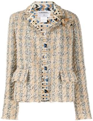 Chanel Pre Owned 2004 Geometric Detailing Tweed Jacket