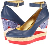 Nine West Yesgirl (Blue Gold Leather) - Footwear