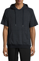 Shades of Grey by Micah Cohen Short Sleeve Hooded Sweatshirt