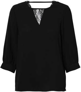 Vero Moda Round Neck Blouse with 3/4 Length Sleeves