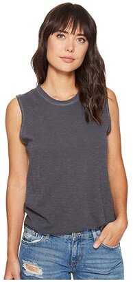 Alternative Inside Out Slub Sleeveless T-Shirt (Coal Pigment) Women's Sleeveless