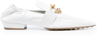 Bottega Veneta Leather Point-Toe Loafers