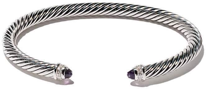David Yurman Cable Classics amethyst and diamond cuff bracelet
