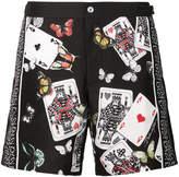Dolce & Gabbana card-print swim shorts
