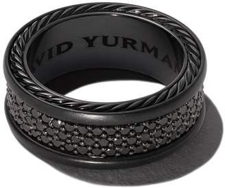 David Yurman Streamline three-row diamond pavé band ring