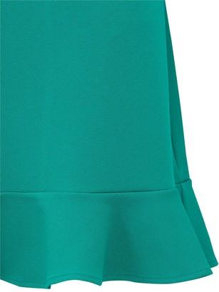 V By Very Curve Jersey Crepe Shift Dress - Green