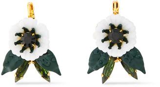 Elizabeth Cole 24-karat Gold-plated, Resin And Swarovski Crystal Earrings